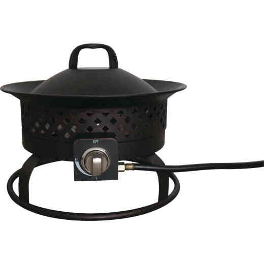 Bond Aurora 18 In. Bronze Round Steel Gas Fire Pit