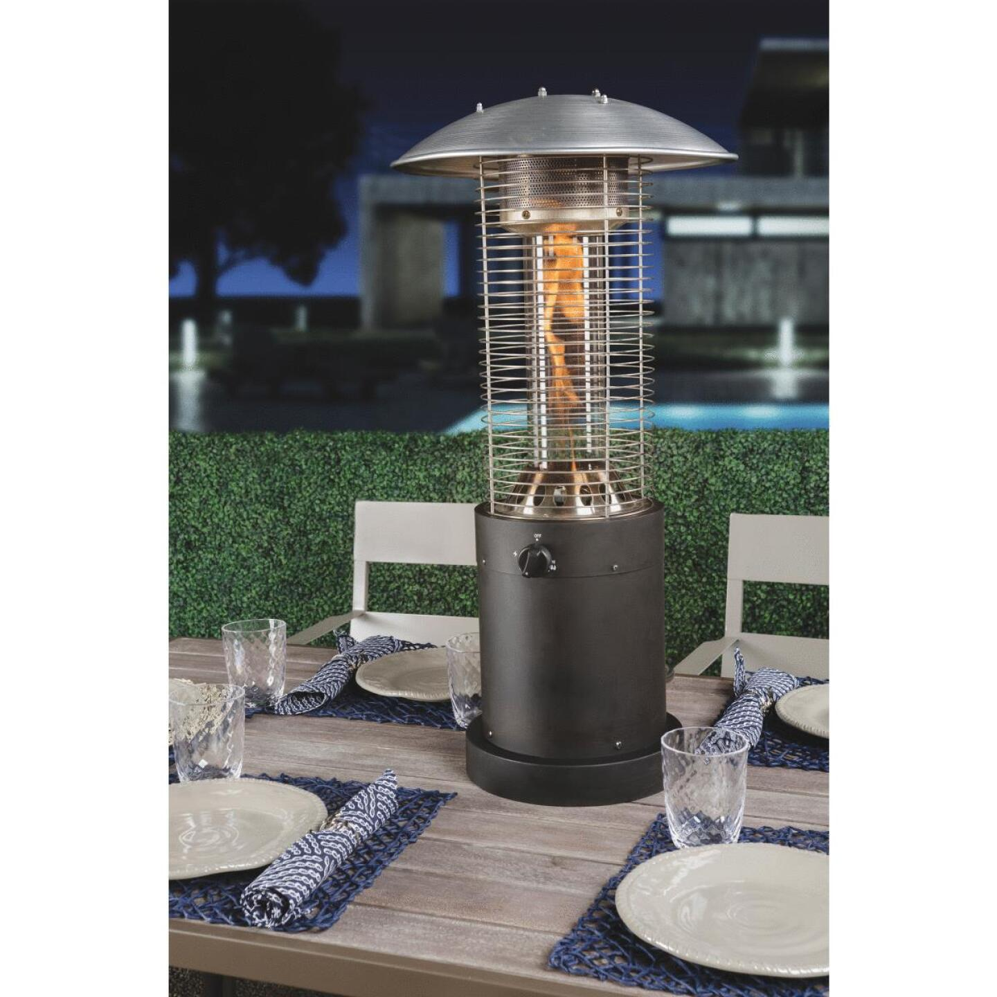 Bond 10,000-BTU Bronze Steel Rapid Induction Tabletop Gas Patio Heater Image 4