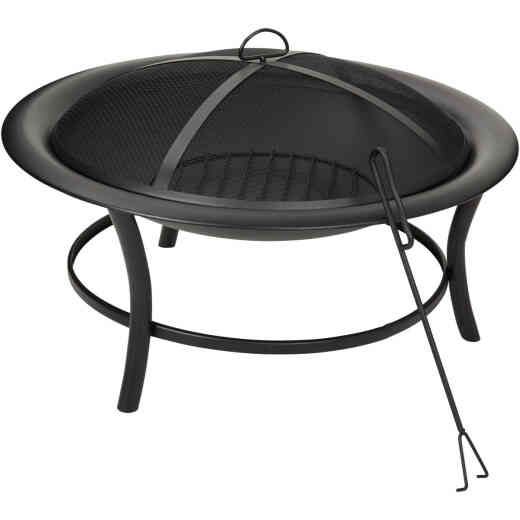 Outdoor Expressions 30 In. Round Steel Fire Pit