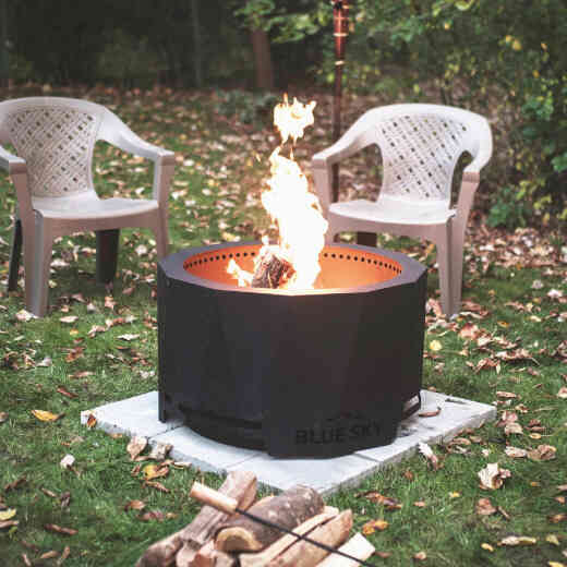 Blue Sky Mammoth 32 In. Round Steel Wood/Pellet High Efficiency Fire Pit