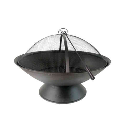 Summit Design 31.5 In. Black Round Steel Fire Pit