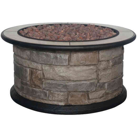 Bond Wellsville 36 In. Round Steel Gas Fire Pit